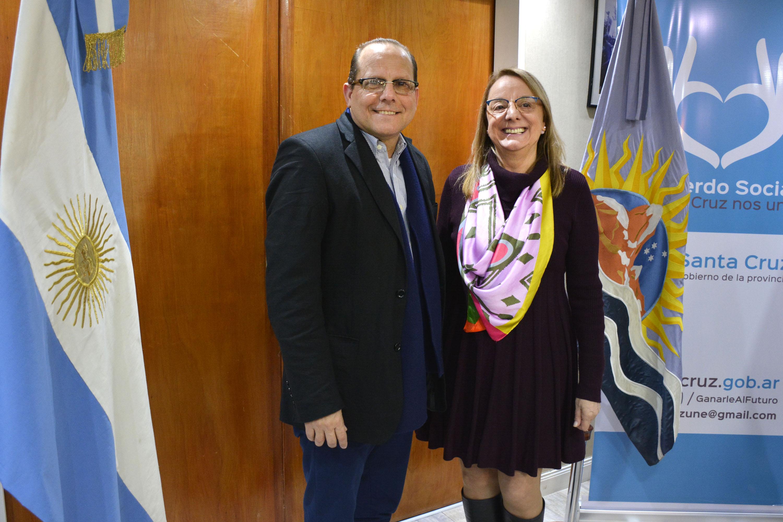 Alicia Kirchner recibió al embajador de Cuba